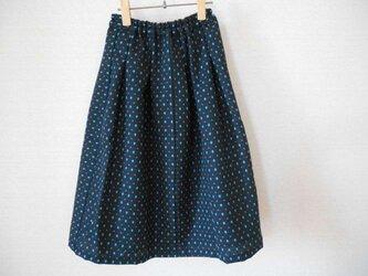 懐古調着物ウールのスカートの画像