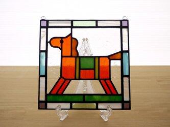ステンドグラス ミニパネル 馬(c) 15cmの画像