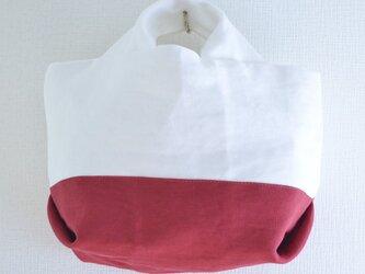 ミニトートバッグ(ホワイト/レッド)の画像