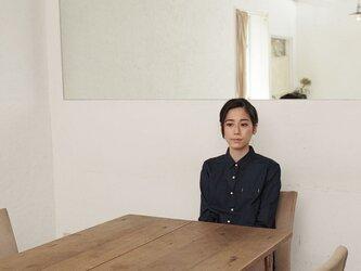 [ボタニカルダイ]ログウッド染めのスタンダードシャツ 8411-01001-39の画像