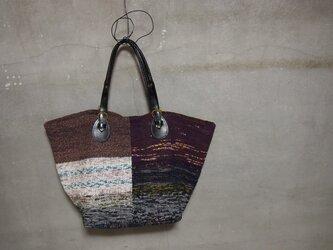 裂き織り/ツギハギみたいなビッグバッグ (+orimi)の画像
