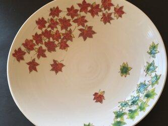 受注制作 花の器 紅葉の大皿の画像