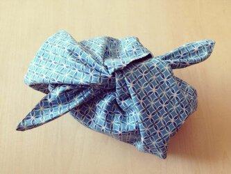 リバーシブル あずま袋 (S)・お弁当袋 「和の花模様/シャドウ」の画像