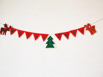 ロゴ入りクリスマスガーランドの画像