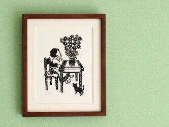花の切り絵「コスモス」の画像