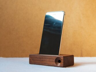 iphone stand -unplugged speaker-(ウォルナット)の画像