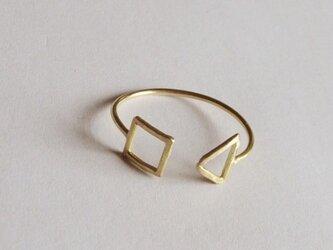 triangle ,square ring k18の画像