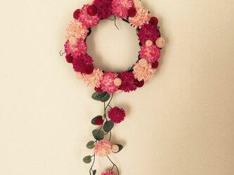 ピンクのミニリースの画像