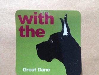 グレートデーン 横顔 ステッカー DOG IN CARの画像