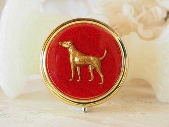 クラシカル小物入れ 猟犬の画像