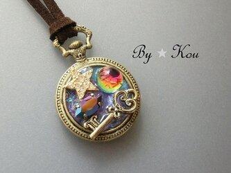 *.*時間という宝物*。*~小さな懐中時計のネックレスB~の画像