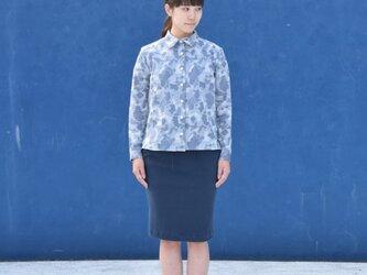 camouflage jacquard bansyuori ladies shirt 迷彩ジャガードシャツの画像