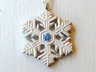 ❄冬限定❄雪の結晶ネックレス(樹枝状六花)の画像