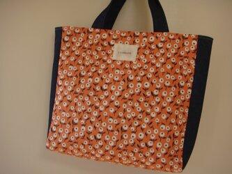 SALE  スクエアバッグ オレンジの画像