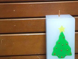 クリスマスツリーのキャンドルの画像