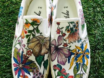 autumn liberty/ladies slip-on【受注製作】の画像