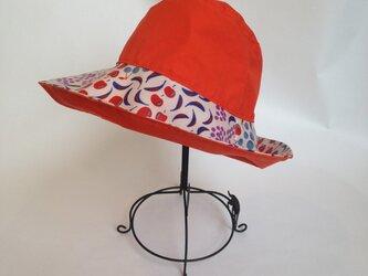キッズ 雨帽子 レインハット リバーシブルの画像