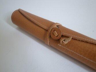 革のロールペンケース(color/ナチュラル)の画像