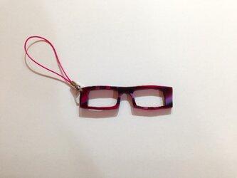 「わたしメガネ好き」アピール用ストラップの画像