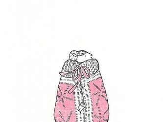 冬のポストカードセット-コートを着た羊の画像