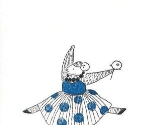 冬のポストカードセット-水玉ドレスの羊の画像
