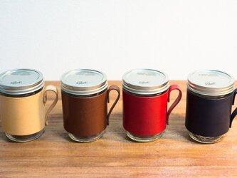 革のメイソンジャー・スリーブ(全4色)の画像