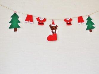 ブーツinクマちゃんのクリスマスガーランドの画像