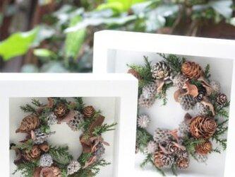 木の実いっぱい☆北欧風フレームリース ペアの画像
