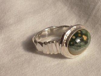 ジャスパー 銀Ring 63の画像