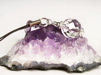 水晶だけの純粋な虹ストラップj036の画像
