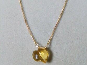 宝石質シトリンファンシーハートネックレスの画像