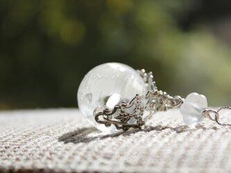 〈Machiko+S〉×〈Cristal-g〉*蜻蛉玉〈無垢〉+水晶のフィグリー チェーンネックレスの画像