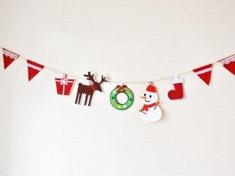大人気★雪だるま・トナカイのクリスマスガーランドの画像