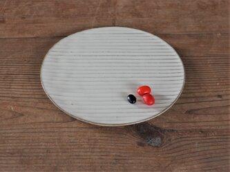 白い陶板のお皿(小)の画像