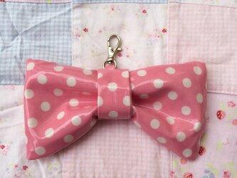 リボン型キーケース*ピンクの画像