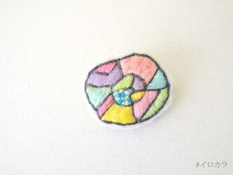 #イロカラ刺繍ブローチ ISB004の画像