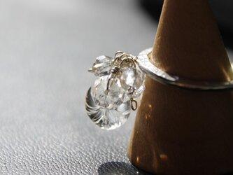 〈Machiko+S〉×〈Cristal-g〉*蜻蛉玉〈無垢〉+アラカルト水晶のシルバーリングの画像