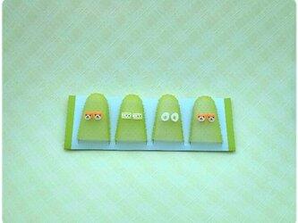 【再販】くまさん・フルーツケーキ・目玉焼きの指サック(Lサイズ)の画像