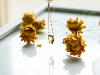 *New*【14kgf】Petalペタル/Honeyquartz ハニークオーツ花びらピアスの画像