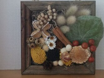 秋のいっぱい詰まった壁掛けboxフラワーの画像