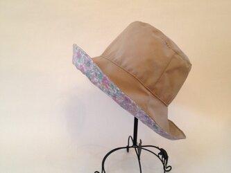 リバティ雨帽子 リバーシブルレインハット58の画像