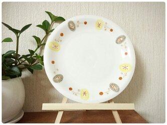 北欧の皿(茶×灰)の画像