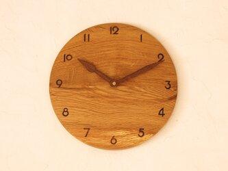 掛け時計 丸 楢材⑤の画像