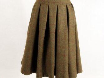 チェック柄 ウール生地 冬の厚て人気スカートの画像