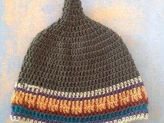 ニット帽  南米カラー グアテマラ Lの画像