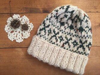 フェアアイル(ベージュ)帽子の画像