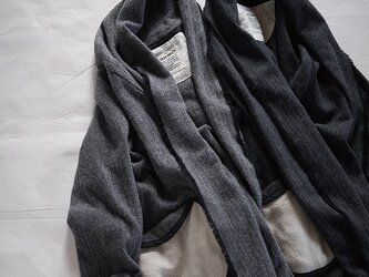 tsukiyo no gown coat (grey herringbone)の画像