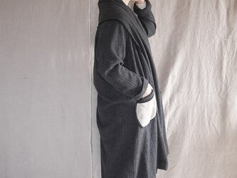 tsukiyo no gown coat (darkgrey herringbone)の画像