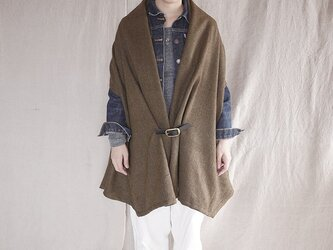 three way stole ( tweed khaki)の画像