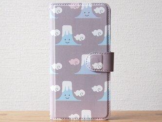笑う富士山の手帳型スマホケースの画像